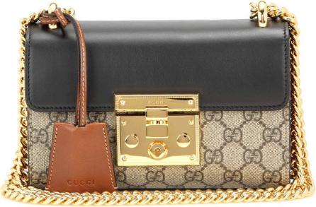 Gucci Padlock GG Supreme leather and coated canvas shoulder bag