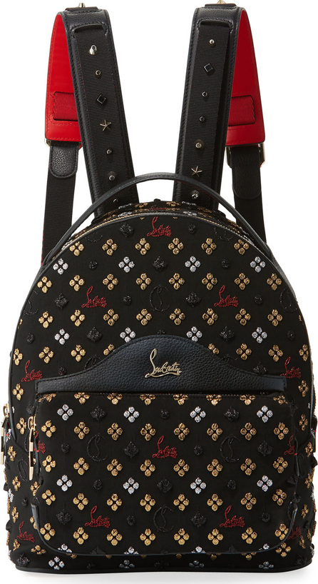 Christian Louboutin Back Loubi Small Jacquard Backpack