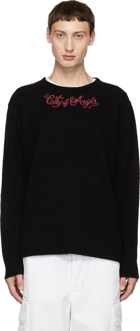 Adaptation Black Cashmere 'C.O.A.' Crewneck Sweater