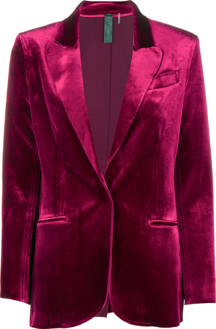 Norma Kamali Velvet single-breasted blazer