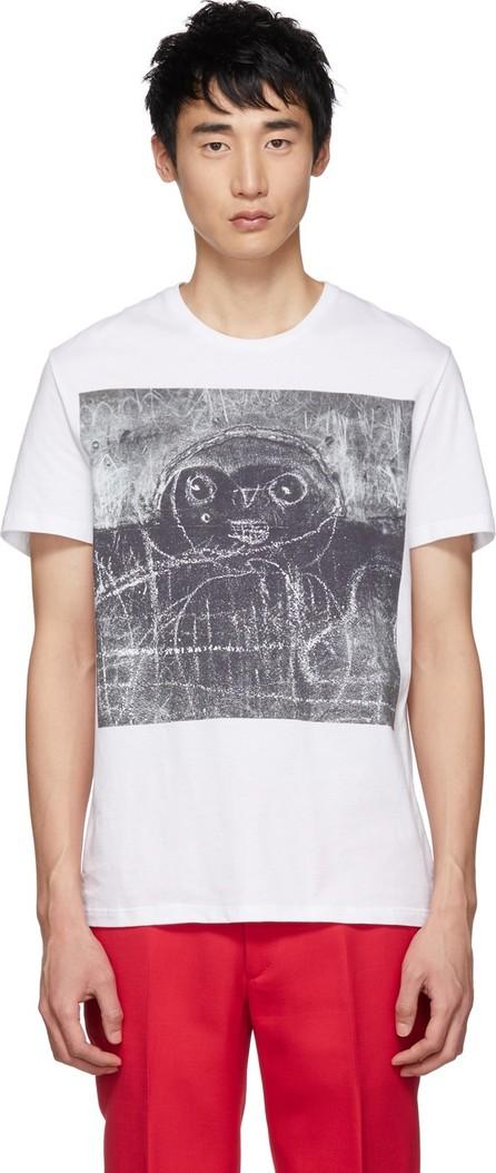 Alexander McQueen White John Deakin Archive Edition 'Graffiti' T-Shirt