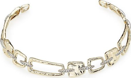Alexis Bittar 10kt Gold Choker Necklace with Crystals
