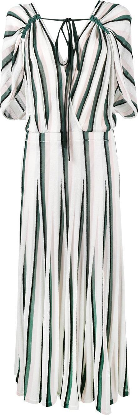 Adam Lippes striped flounce dress