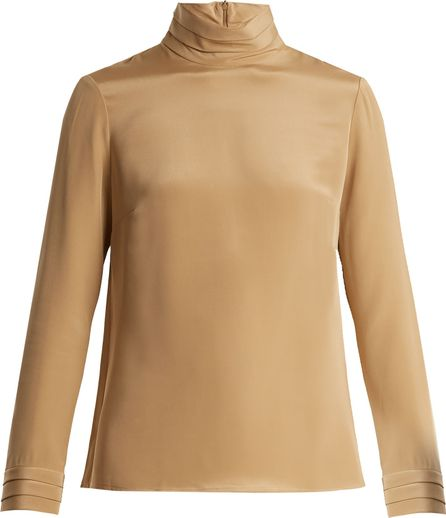 Goat Eve silk-crepe blouse