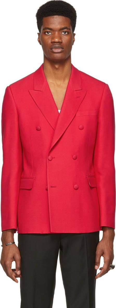 Alexander McQueen Red Wool & Silk Blazer