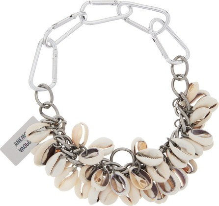 Chopova Lowena Puka-shell carabiner-chain necklace