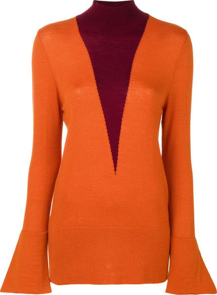 Erika Cavallini flared knit sweater