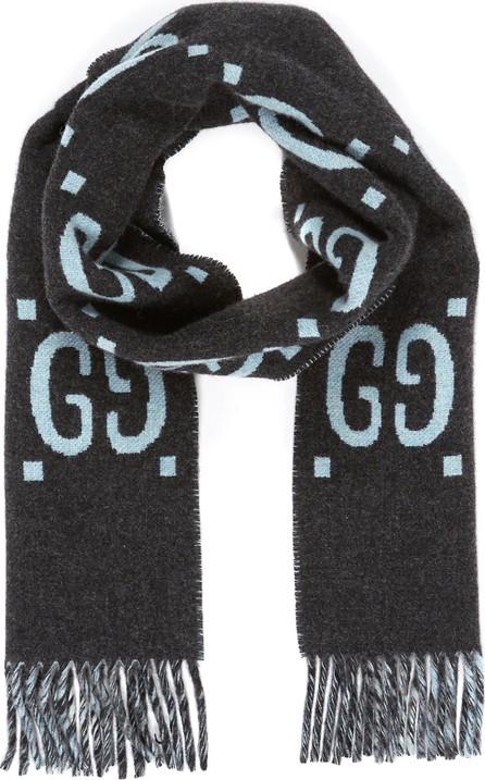 Gucci GG logo intarsia scarf
