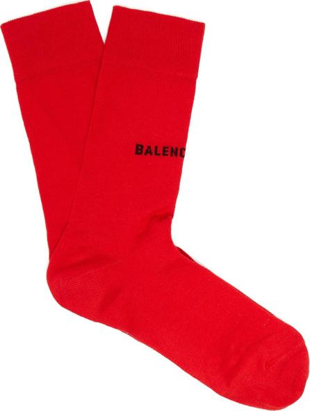 Balenciaga Intarsia logo cotton-blend socks