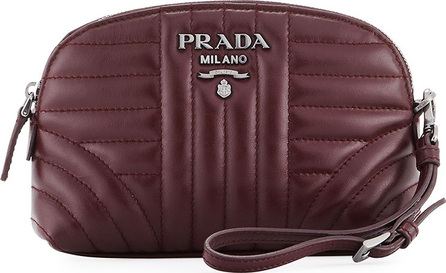 Prada Impunture Soft Calf Cosmetics Case with Wristlet Strap