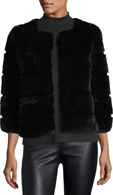 Belle Fare Hook-Front Rabbit Fur Jacket