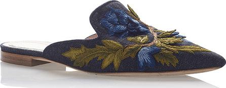 Alberta Ferretti Floral Embroidered Mules
