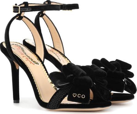 Charlotte Olympia Fabulous 100 velvet sandals