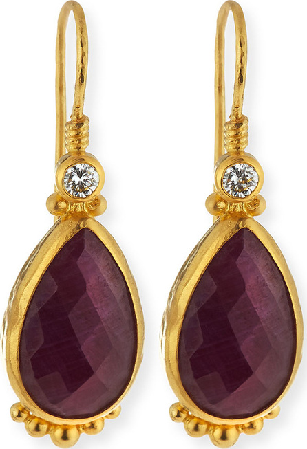GURHAN Elements 24k Gold Constantine Ruby Teardrop Earrings