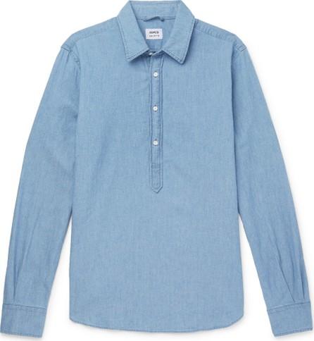 Aspesi Chambray Half-Placket Shirt