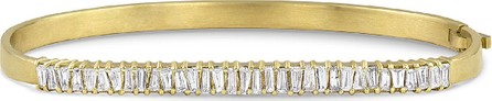 Dominique Cohen 18k Gold Diamond Hinged Bangle Bracelet