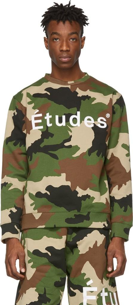 Etudes Green Camo Logo Sweatshirt