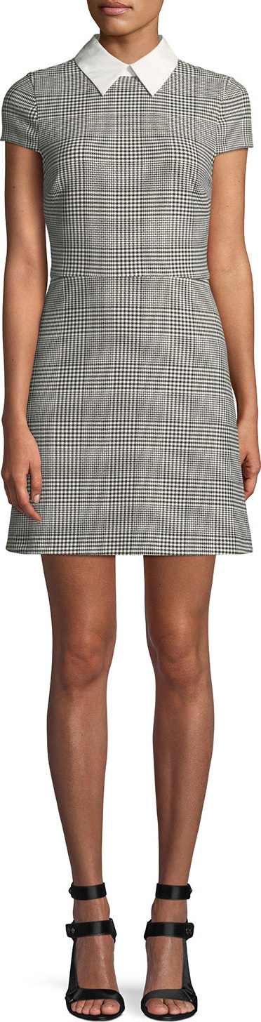 Julissa Collared Check Mini Dress