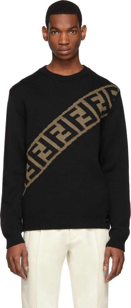 Fendi Black 'Forever Fendi' Sweater
