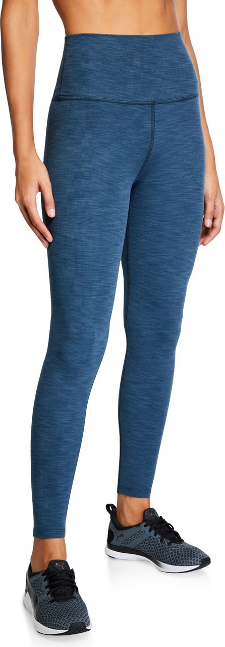 Beyond Yoga Heathered Rib High-Waist Midi Leggings
