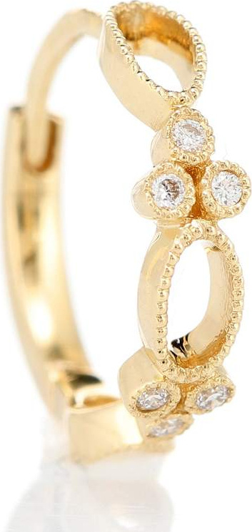 Stone Paris Volupte Tiny Hoop 18kt yellow gold and diamond single earring