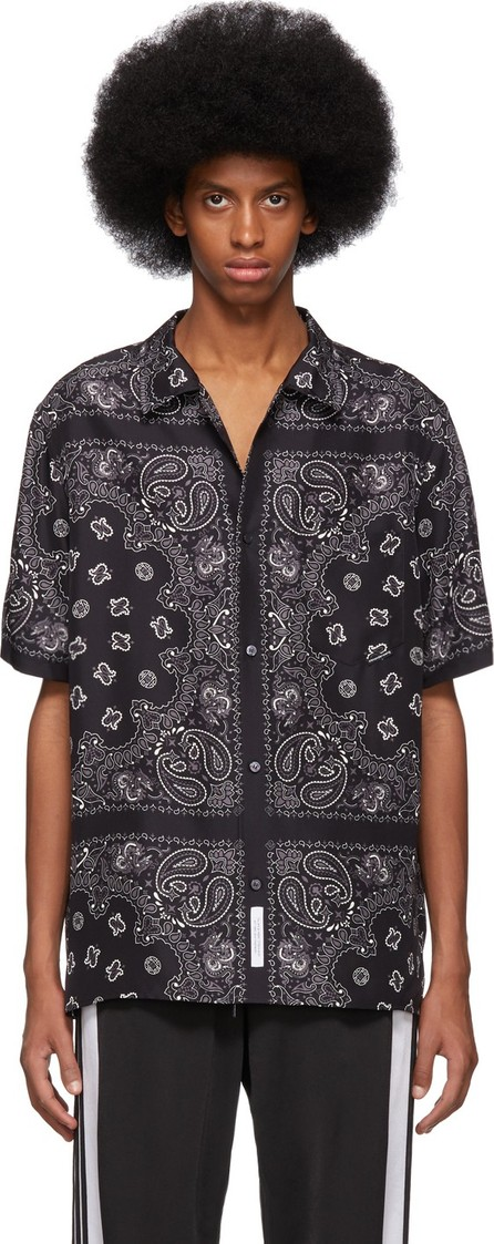 Alexander Wang Black & Grey Silk Bandana Shirt