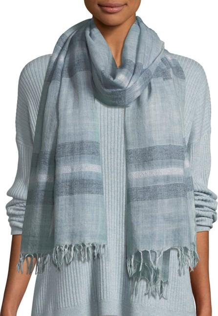 Eileen Fisher Dreamy Stripe Wool Scarf