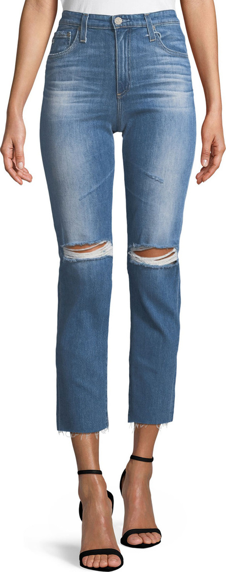 AG Jeans Isabelle High-Rise Straight-Leg Crop Jeans