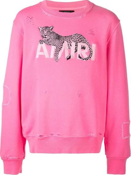 Amiri Leopard embroidered sweatshirt