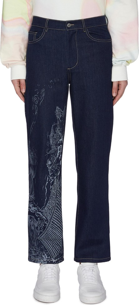 Feng Chen Wang Chinese traditional print scene jeans