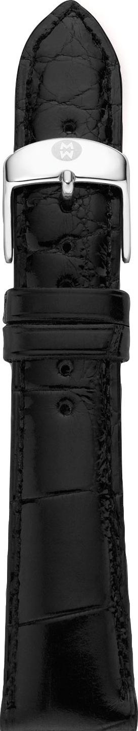 MICHELE 20mm Alligator Strap, Black
