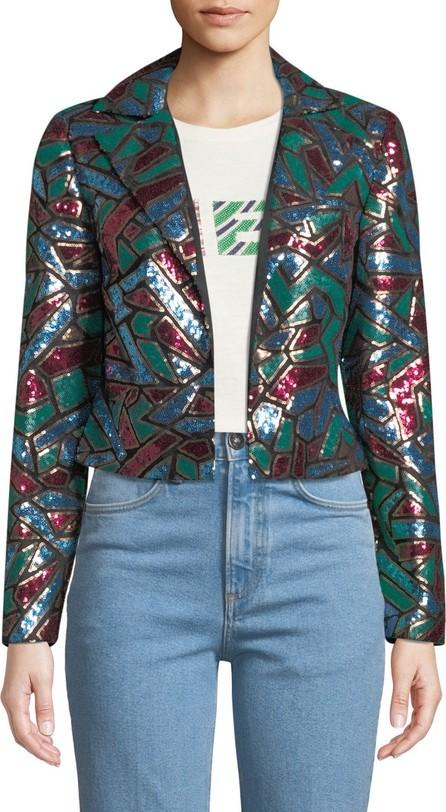 Aidan Mattox Multicolor Sequin Blazer
