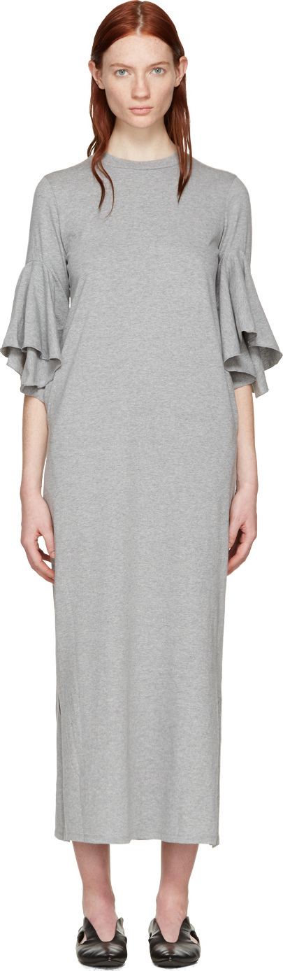 FACETASM Grey Flare Sleeve Dress