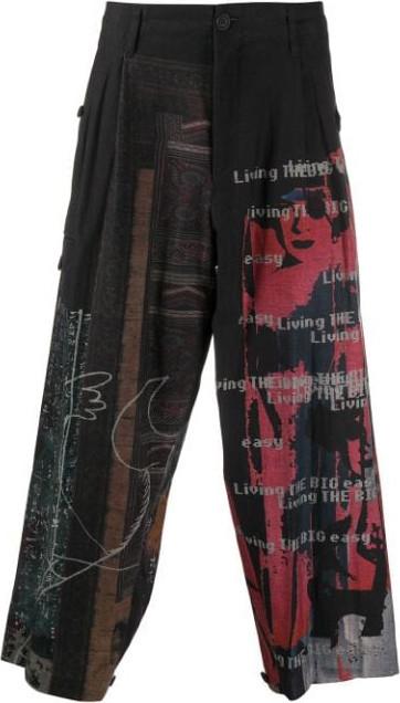 Yohji Yamamoto Patchwork trousers