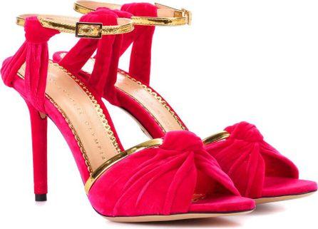Charlotte Olympia Broadway 95 velvet sandals