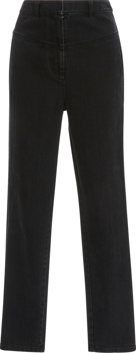Tibi Jamie Cropped High-Rise Straight-Leg Jeans