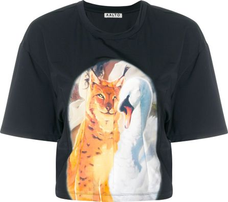 Aalto animal print panel T-shirt