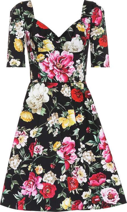 Dolce & Gabbana Floral-printed cotton-blend dress