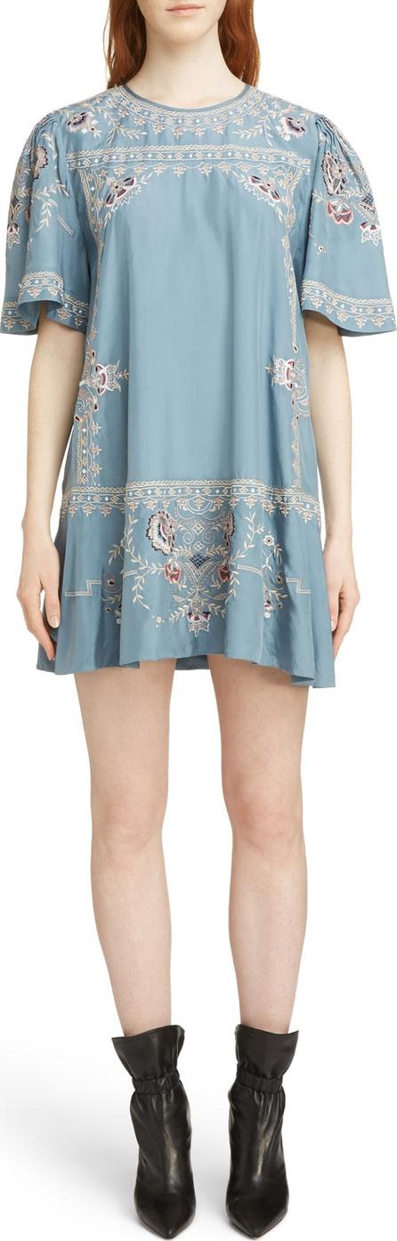 Isabel Marant Dryna Embroidered Silk Dress