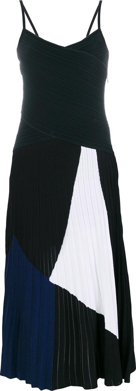 Proenza Schouler - Spaghetti straps tricolour dress