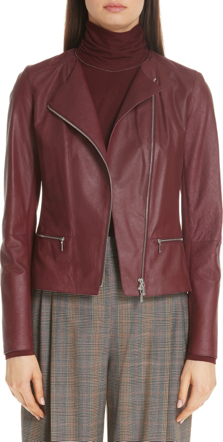 Lafayette 148 New York Trista Lambskin Leather Jacket