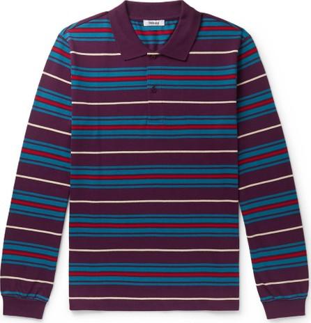 Très Bien Striped Cotton-Piqué Polo Shirt