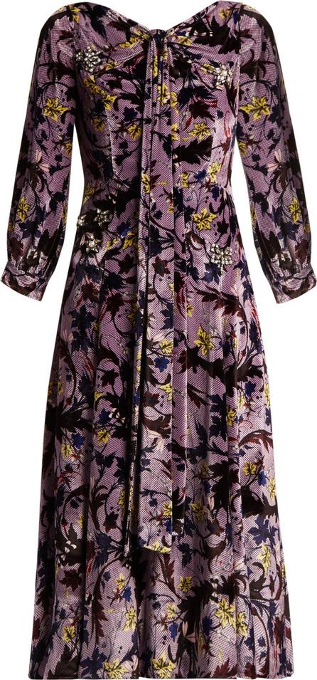 Erdem Zelena Astaire-print velvet gown