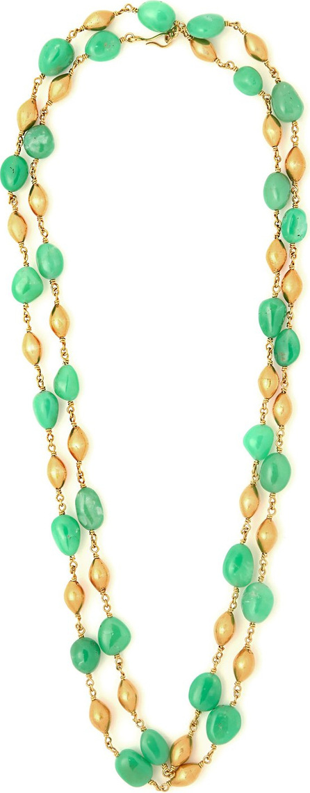 Brigid Blanco Chrysoprase & 20kt gold necklace