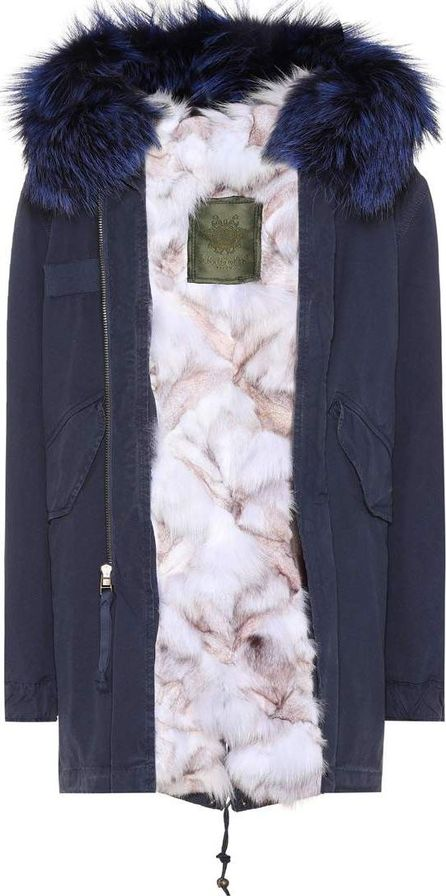 Mr&Mrs Italy Fur-trimmed cotton parka