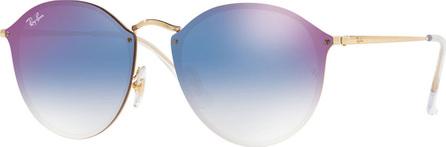 Ray Ban Blaze Round Mirrored Sunglasses