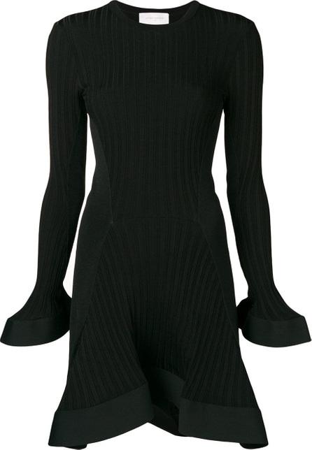 Esteban Cortazar Knitted ruffle trim mini dress