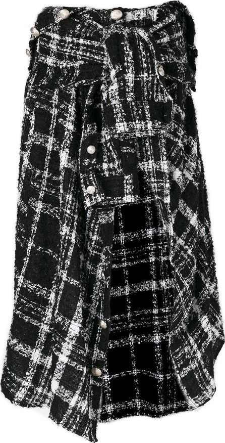 Faith Connexion asymmetric tweed skirt