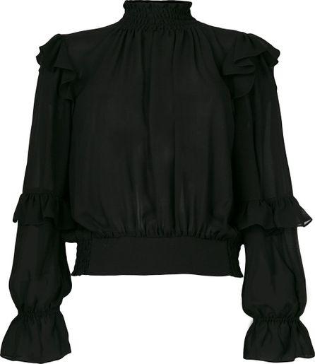 FRAME DENIM sheer peasant blouse