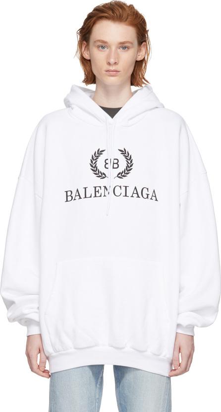 Balenciaga White BB Crown Hoodie